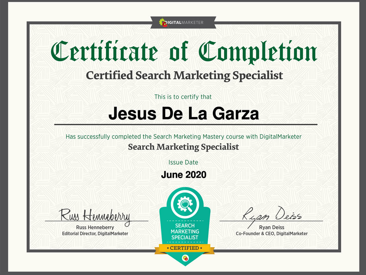 Certificacion en Marketing para Buscadores